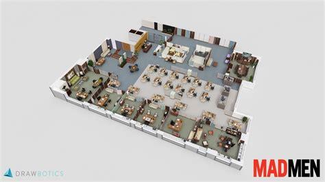 3d plan cool 3d tv show floor plans of your favorite tv offices