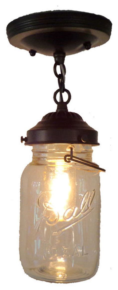 jar ceiling lights jar ceiling light with chain and vintage quart