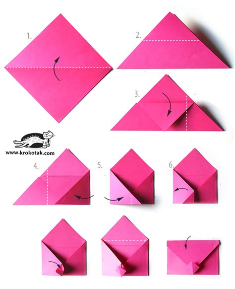 how to fold an origami envelope krokotak envelope origami