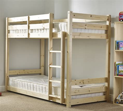 strictly bunk beds pluto 3ft single length solid pine bunk bed