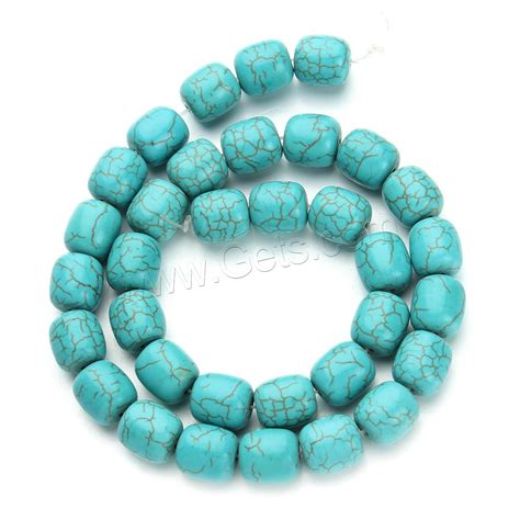 synthetic turquoise synthetic turquoise drum blue 11x12mm gets