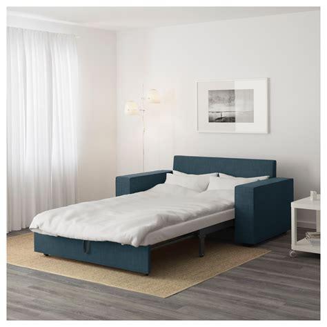 ikea blue sofa bed vilasund two seat sofa bed hillared blue ikea
