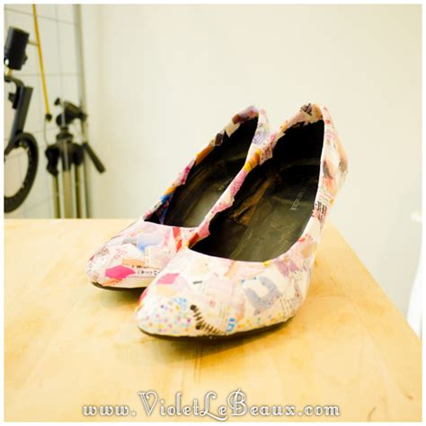 decoupage shoes with paper how to diy decoupage shoes tutorial violet lebeaux