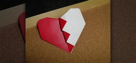 origami for valentines how to fold an easy origami broken s day