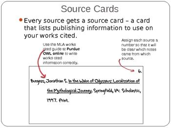 how to make a source card mla note cards quotes quotesgram