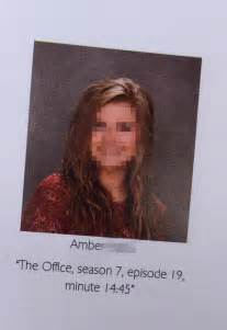 for the office high schooler uses the office for hilarious yearbook quote