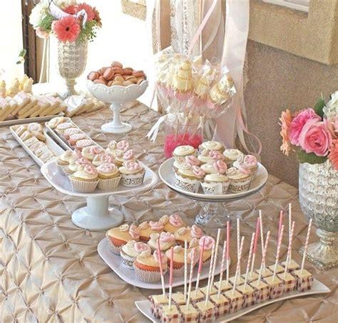 bridal shower table bridal shower dessert table guest feature