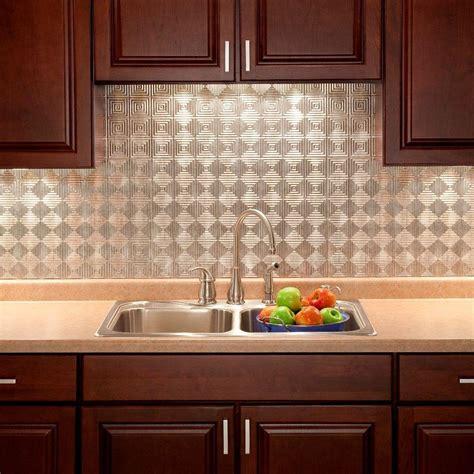 backsplash panels kitchen fasade 24 in x 18 in miniquattro pvc decorative backsplash panel in crosshatch silver b53 21