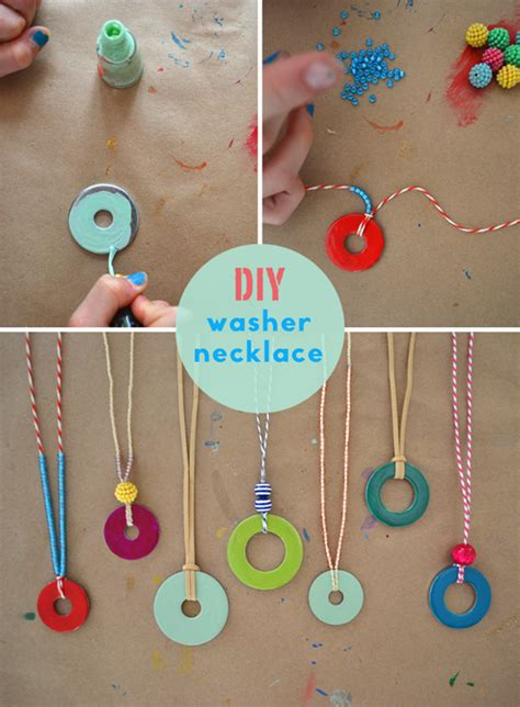 necklace crafts for diy washer necklaces washer necklace summer crafts and