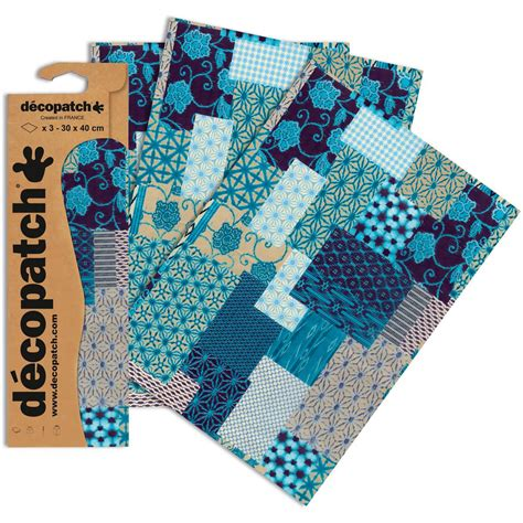 patterned craft paper uk decopatch mixed blue patterned paper 3 sheets hobbycraft