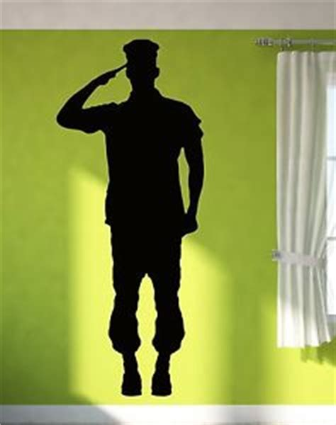 Wall Window Stickers wall sticker vinyl decal soldier giving salute military