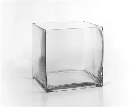 square glass 8 quot clear glass square vase