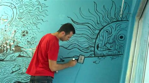 acrylic paint on walls wall mural using decocolor acrylic paint markers by