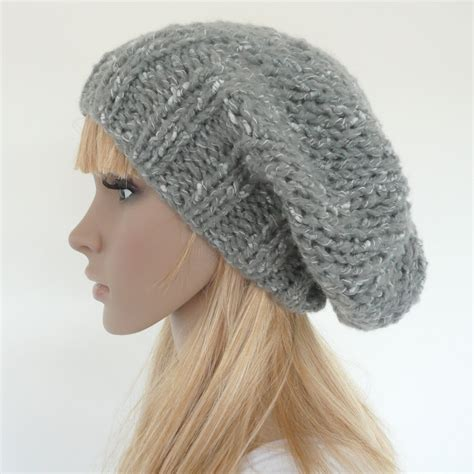 how to knit a slouchy hat knit slouch hat gray slouch beret slouch beanie