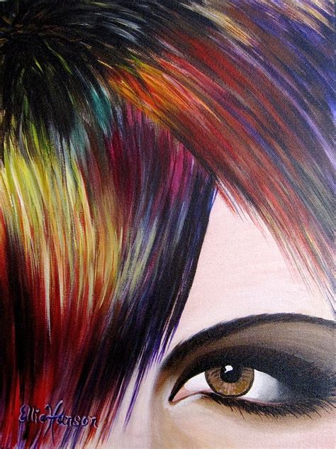 acrylic painting hair 17 best images about originals by ellie hanson on