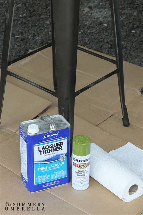 spray paint not sticking how to paint and distress metal bar stools like a pro