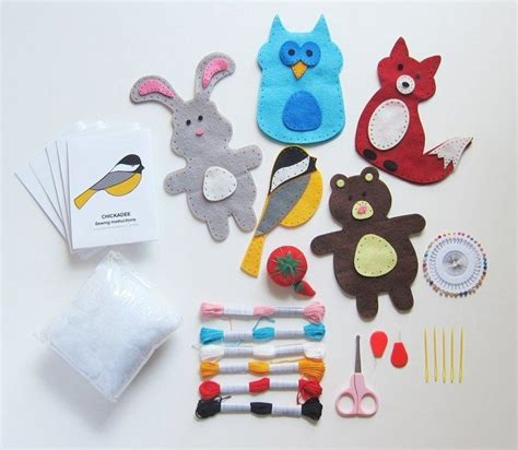 and crafts kits save 50 on this woodland animals sewing kit