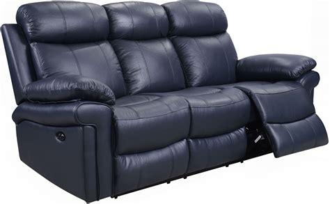 leather blue sofa shae joplin blue leather power reclining sofa 1555 e2117
