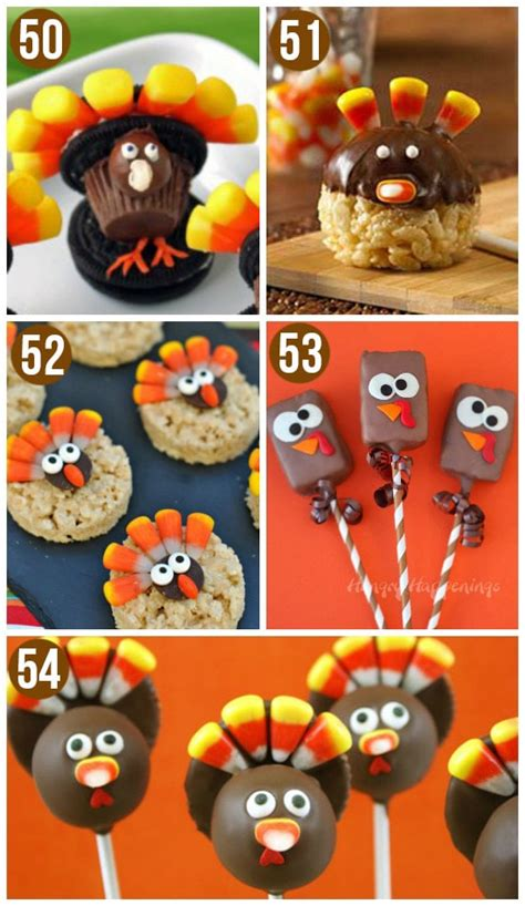 edible crafts for 50 turkey treats thanksgiving food ideas pushup24