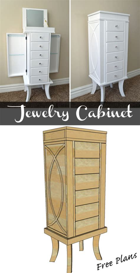 free jewelry armoire woodworking plans diy jewelry organizer organized homes daily declutter