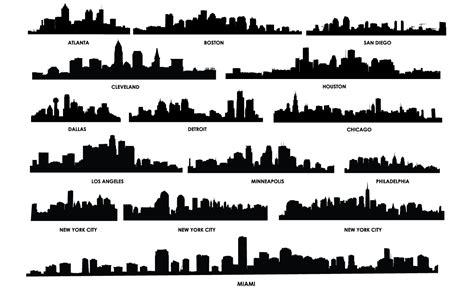 city skyline vector pack for adobe illustrator