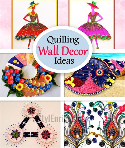 wall hanging craft ideas for quilling wall 5 brilliant quilling wall decor