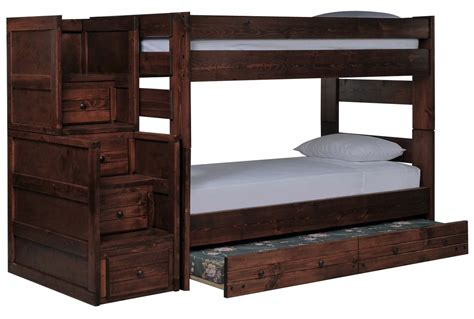 bunk beds living spaces sedona bunk bed w trundle mattress stair chest