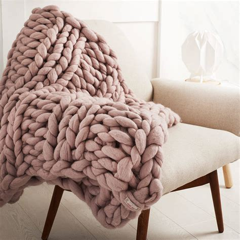 chunky knit welcombe chunky knitted throw by aston