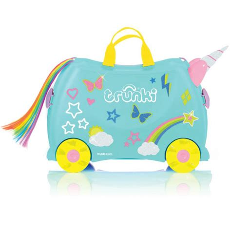 Wall Stickers Glow In The Dark trunki ride on suitcase una unicorn silly milly moo