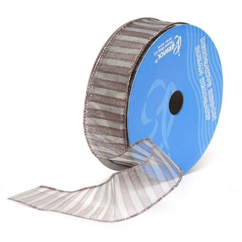 wide wired ribbon silver formula 5 wired ribbon 1 1 2 quot wide
