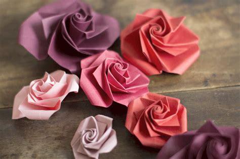 origami paper roses diy origami paper flowers make my lemonade