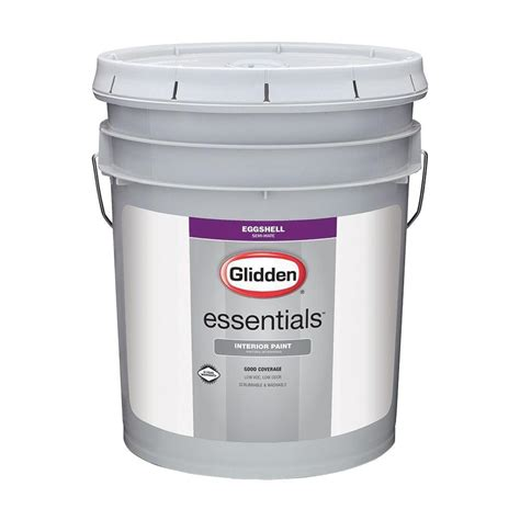 home depot 5 gallon interior paint glidden essentials 5 gal white eggshell interior paint gle 2000 05 the home depot