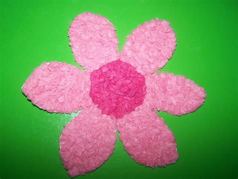 crafts with tissue paper may arts and crafts tissue paper flowers
