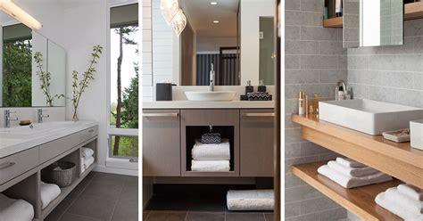 bathroom vanity open shelf 15 exles of bathroom vanities that open shelving