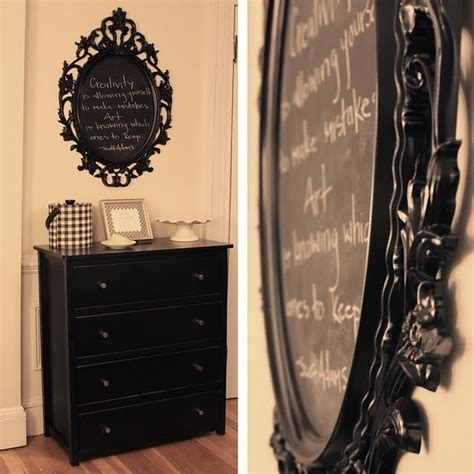 chalk paint mirror mirror painted with chalkboard paint craftiness