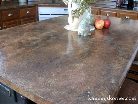 Kammy S Korner Painted Faux Granite Counter Tops With
