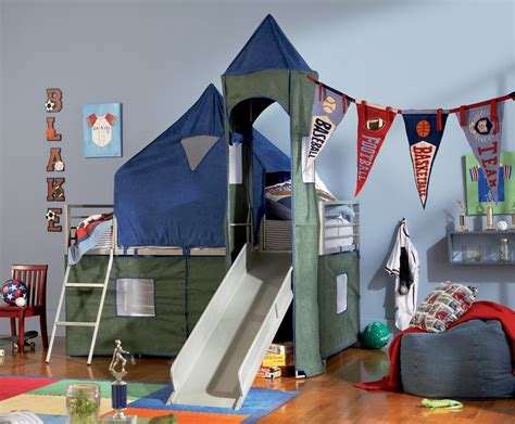 boys bed tent boys tent bunk bed with slide powell 938 069