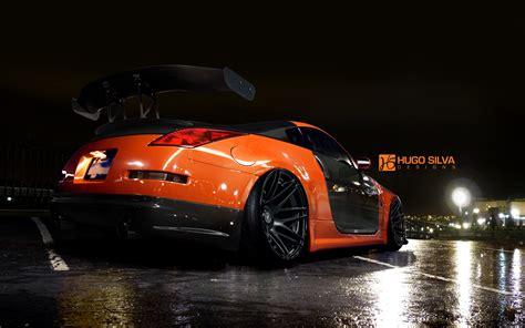Z Car Wallpaper by Orange Nissan 350z Wallpaper Hd Car Wallpapers Id 4915
