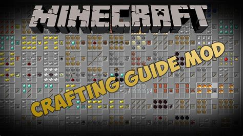 crafting for minecraft mods crafting guide mod minecraft 1 2 5