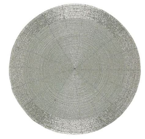 beaded placemats silver beaded 13 inch placemats
