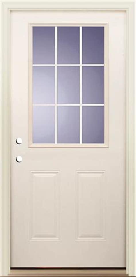 menards mastercraft exterior doors mastercraft i 4 smooth white fiberglass 9 lite prehung ext