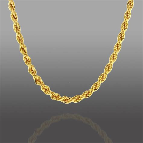 chain jewelry gold bronze twisted rope necklace jewelry