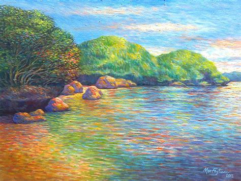 acrylic paint price philippines hundred islands philippines painting by mon fagtanac