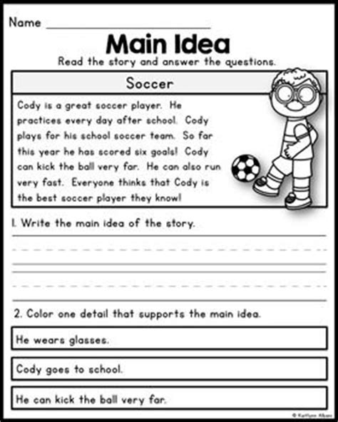picture books for idea and details idea practice worksheets 4th grade 1000 images