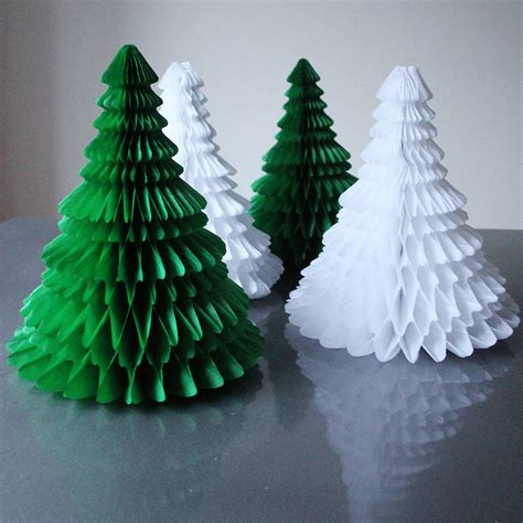 tree paper decorations paper tabletop tree decorations by pearl and