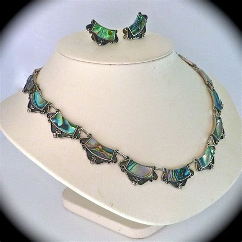 how to make abalone jewelry mexican designer sterling abalone necklace earrings set