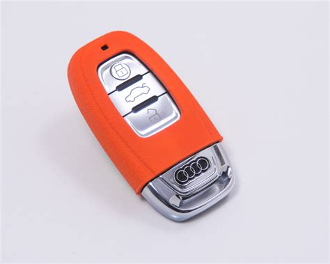 key rubber st agency power orange rubber key fob protection audi