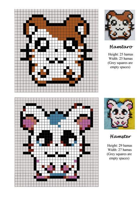 bead pet patterns hamtaro hamster pet hama pattern pyssla