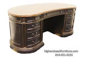 kidney shaped executive desk kidney shaped executive desk kidney shaped leather top