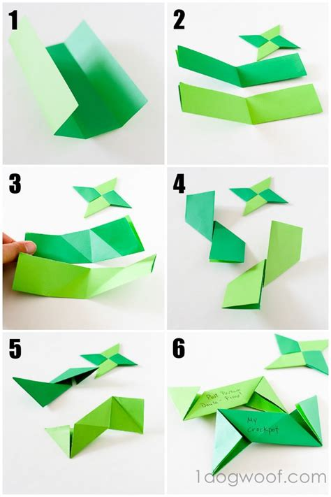 paper shuriken origami origami thankful ornaments one woof